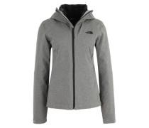 3-in-1-Jacke mit herausnehmbarer Steppjacke grau