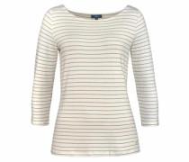 T-Shirt grau / wollweiß