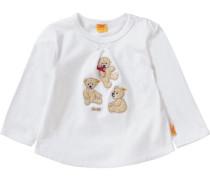 Baby Langarmshirt für Mädchen weiß