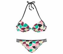 Push-up-Bikini hellgelb / mint / mischfarben / altrosa / bordeaux / schwarz / weiß