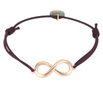 Armband 'Endless' rosegold / bordeaux