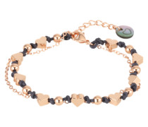 Armschmuck 'Be loved heart' dunkelblau / rosegold