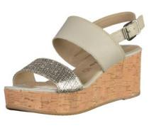 Sandalen grau / silber