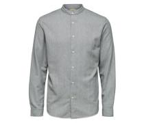 Rundhalsausschnitt-Hemd grau