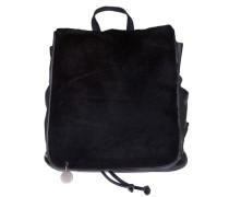 Ledertasche 'teddypack' schwarz