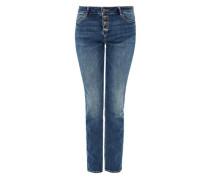 Smart Straight: 5-Pocket-Jeans blau