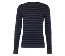 Pullover mit Ringel-Muster dunkelblau / grau