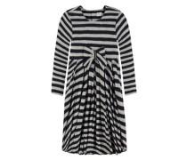 Kleid mit Schleife grau / schwarz
