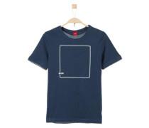 T-Shirt mit Grafik-Print navy
