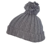 Mütze Bommel grau