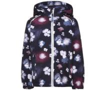 Softshell-Jacke Mit Blumen bedruckte Alfa- blau / weiß