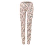 Jeans mit Allover Paisley-Muster im Slim Fit mischfarben