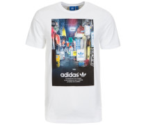 Street Photo T-Shirt Herren weiß