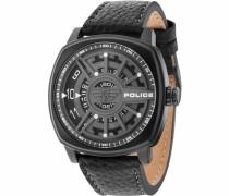 Quarzuhr 'speed Head Pl15239Jsb.13' schwarz / weiß