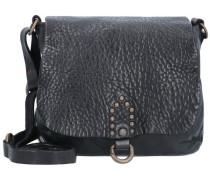 Cacciatorina Mini Bag Umhängetasche Leder 18 cm schwarz