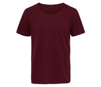 Kurzärmeliges Basic T-Shirt rot