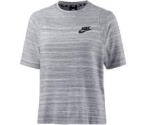 'Advanced Knit' T-Shirt grau / weiß