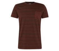 T-Shirt 'cn yd thin stri' bordeaux / schwarz