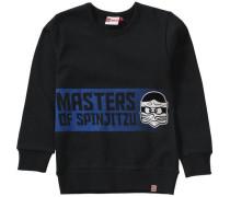 Sweatshirt Ninjago für Jungen blau / schwarz / weiß