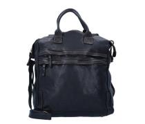'Castagno' Rucksack-Tasche Leder 43 cm schwarz