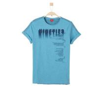 Shirt mit verschiedenen Seiten blaumeliert