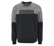 Sweatshirt 'rebelblock Crew FL' grau / schwarz