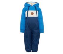 Schneeanzug mit Kapuze creme / blau / dunkelblau