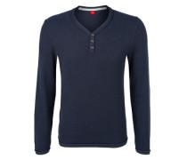 Pullover aus Strukturstrick blau