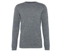 Pullover 'grindle basic plus crewneck' blaumeliert