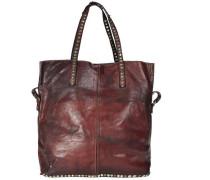 Shopper Leder 37 cm rotviolett