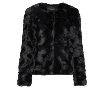 Fake Fur Jacke schwarz