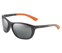 Sonnenbrille anthrazit / orange