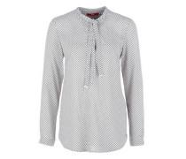 Viskose-Bluse mit Schleife weiß
