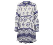 Tunika mit Allover-Print weiß / blau