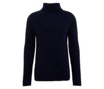 Grobstrick-Pullover mit Stehkragen 'Arvind' blau