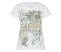 T-Shirt 'Cannes' grün / weiß