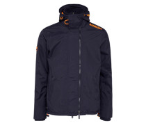 Funktionsjacke 'pop ZIP Hood Arctic Wndcheater' navy / orange