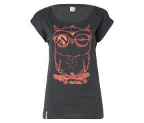 T-Shirt 'Skateowl 2' anthrazit