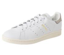 Flacher Sneaker aus Leder 'Stan Smith' hellgrau / weiß