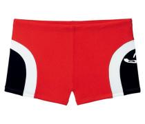 Boxer-Badehose rot / schwarz / weiß