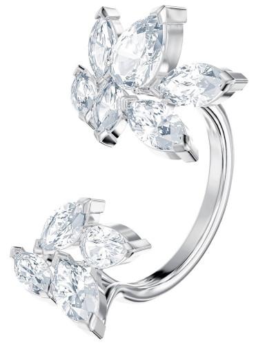 Ring 'Louison 5448851' silber / weiß