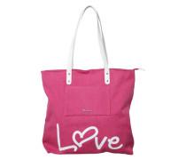 Shopping Tasche 'Sole' pink / weiß