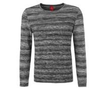 Strickpulli mit Melange-Muster grau / schwarz
