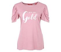Printshirt mit Puffärmeln pink / weiß