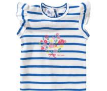 Baby T-Shirt für Mädchen blau / weiß