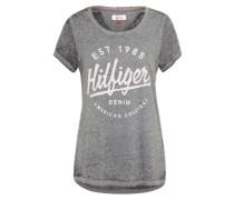 Logoprint 't-Shirt' graumeliert