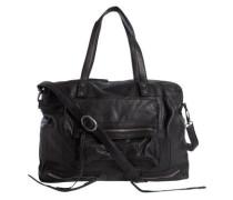 Leder Reisetasche schwarz
