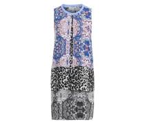 Kleid mit Mustermix blau / mischfarben