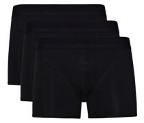 Schwarze Basic-Boxershorts schwarz
