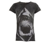 Shirt mit Hai-Print 'Stone Shark' grau / dunkelgrau